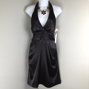 Teeze me black satin cocktail dress size 7